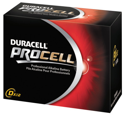 Duracell Procell Batteries, Non-Rechargeable Alkaline, 1.5 V, D