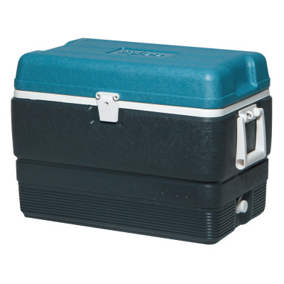 MaxCold® Extended Performance Coolers, 50 qt, Jet Carbon/Ice Blue/White