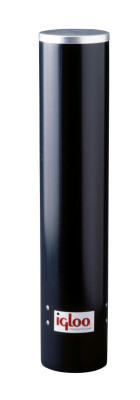 Igloo Cup Dispenser, Uses 4 - 4.5 oz Cups, Black Plastic