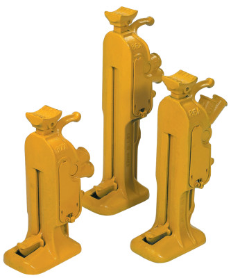 Ratchet Jacks, 5 tons, 17 in Height Min., 10 in Stroke